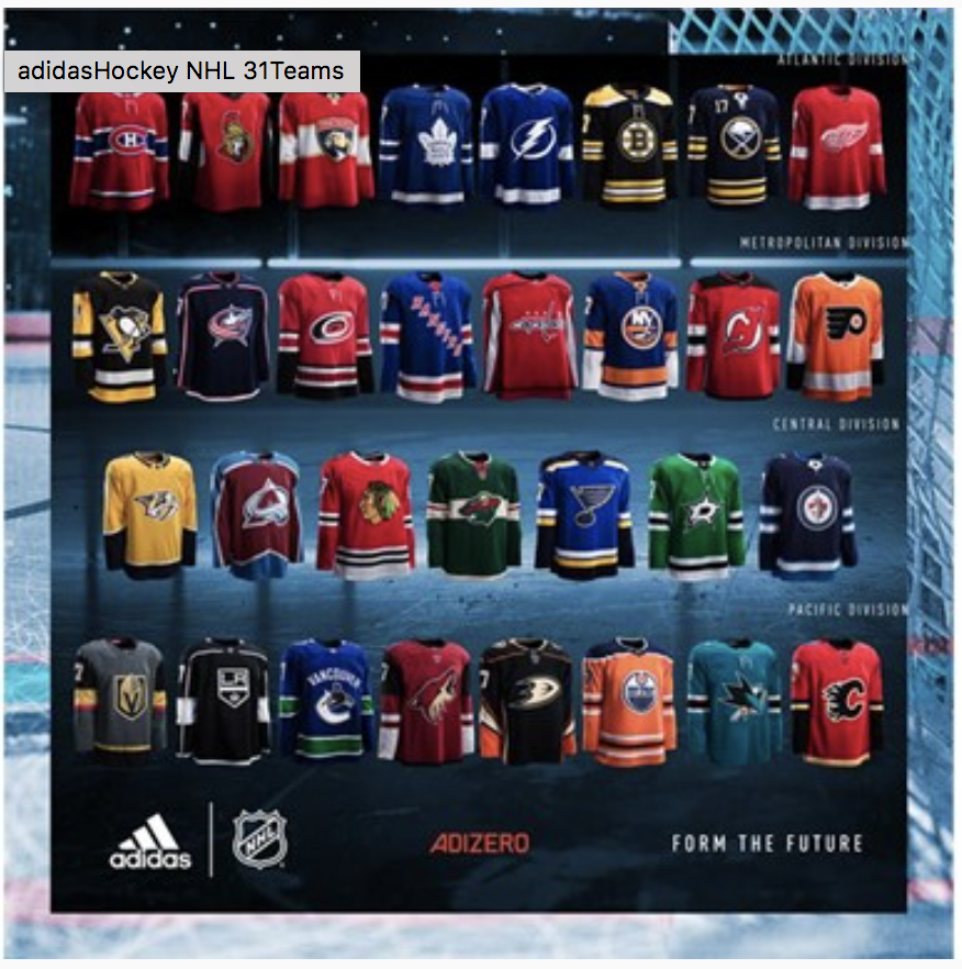 80de71b1217 At the forefront of innovation, design and craftsmanship, the new ADIZERO  Authentic NHL jersey takes the hockey uniform system and hockey jersey  silhouette ...
