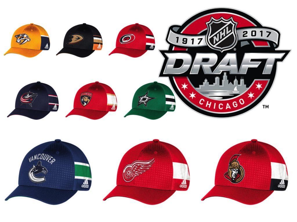 NHL Draft 2017 adidas Team Hats  7d4c66d3caa