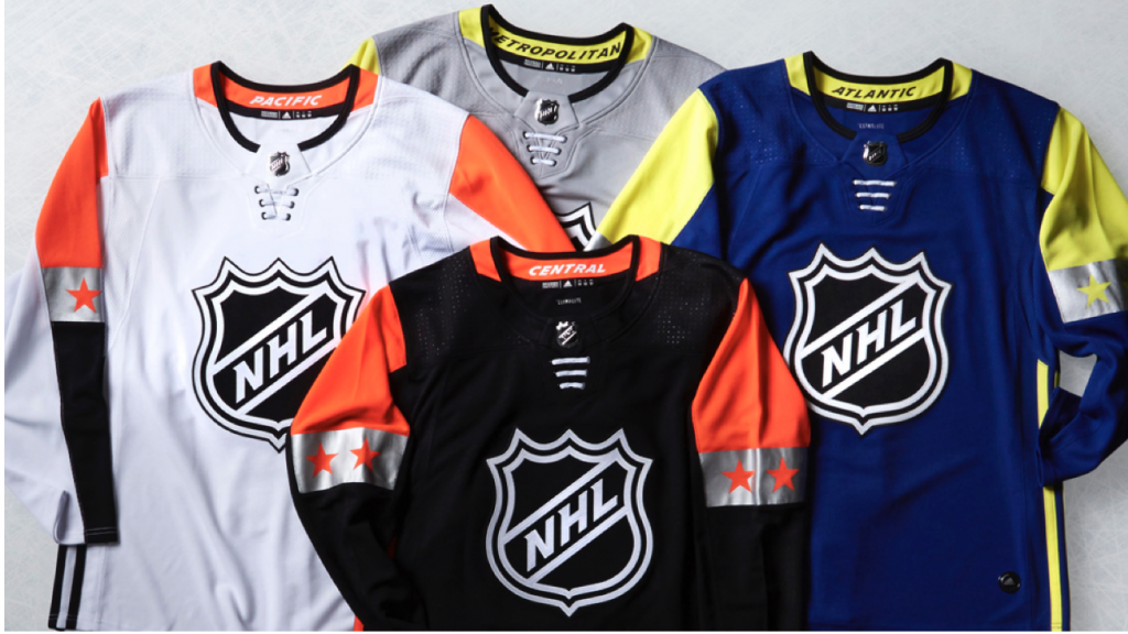 The National Hockey League (NHL®) and adidas today unveiled the new adidas  ADIZERO Authentic jerseys and pants for the 2018 Honda NHL® All-Star Game 1fcfa80fd